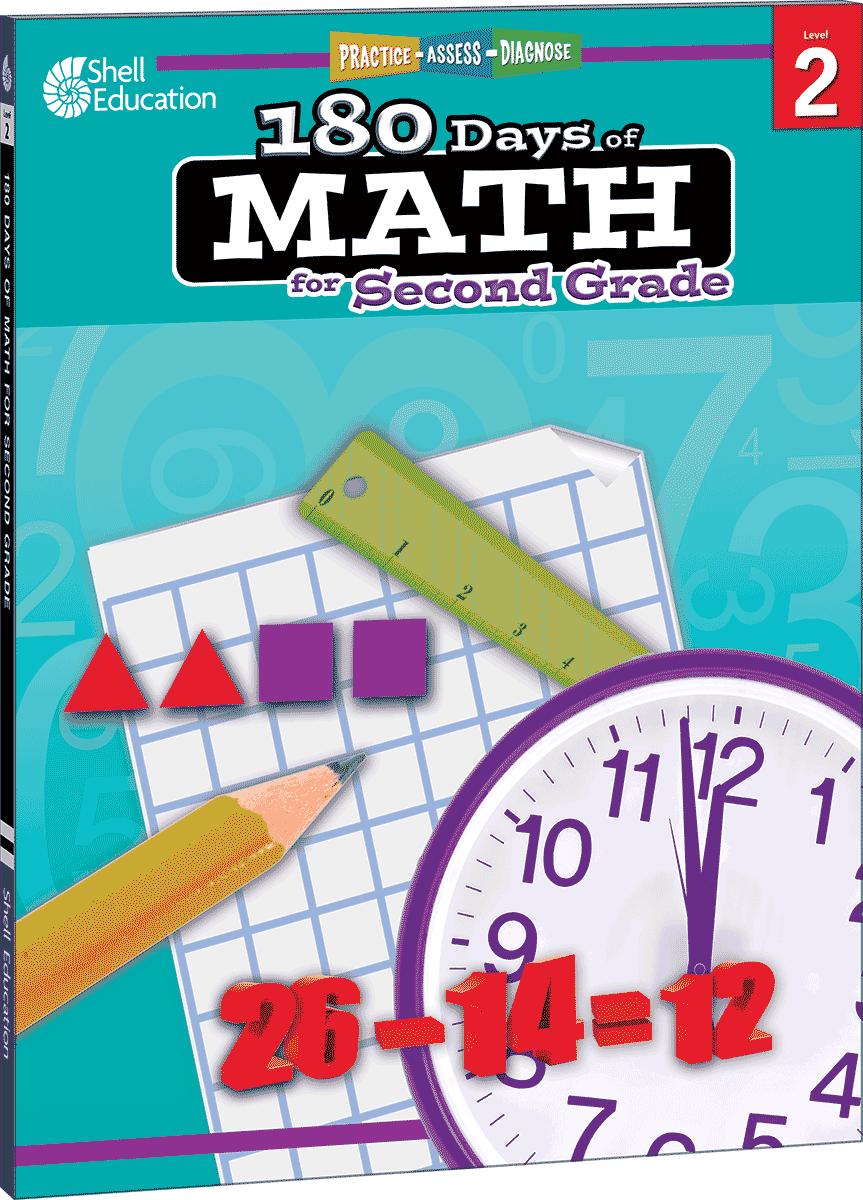 180 Days of Math for Second Grade | Teacher Created Materials