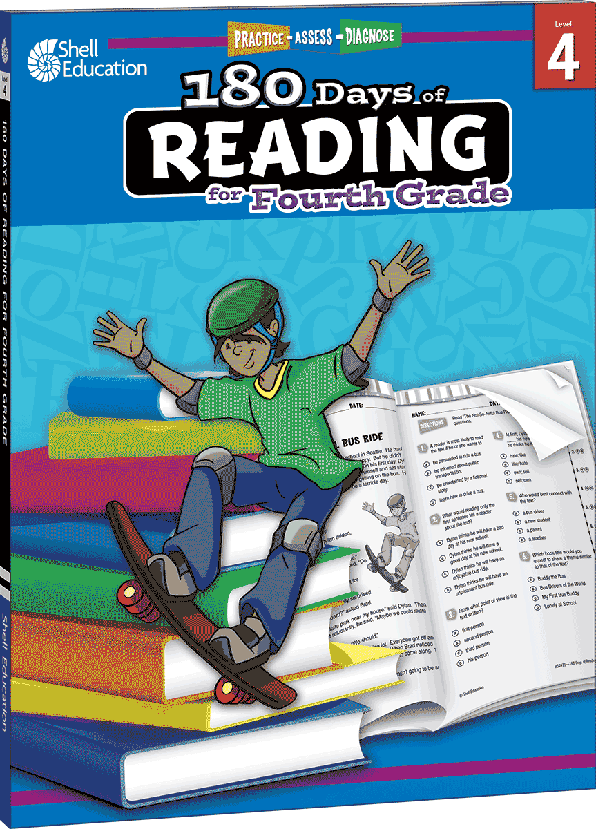 180 days of reading for fourth grade teacher created materials fandeluxe Choice Image