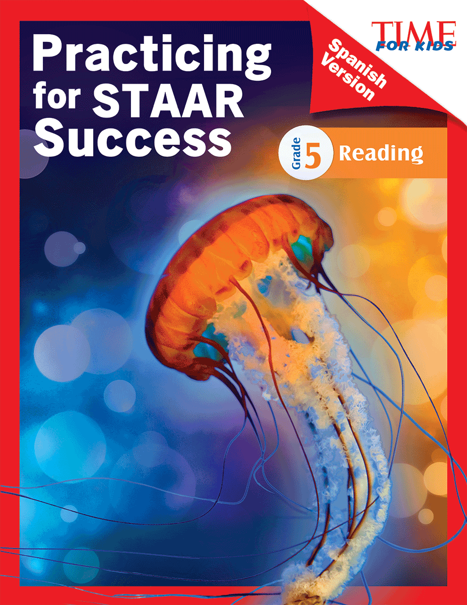Time for kids practicing for staar success reading grade 5 time for kids practicing for staar success reading grade 5 spanish version teacher created materials fandeluxe Gallery