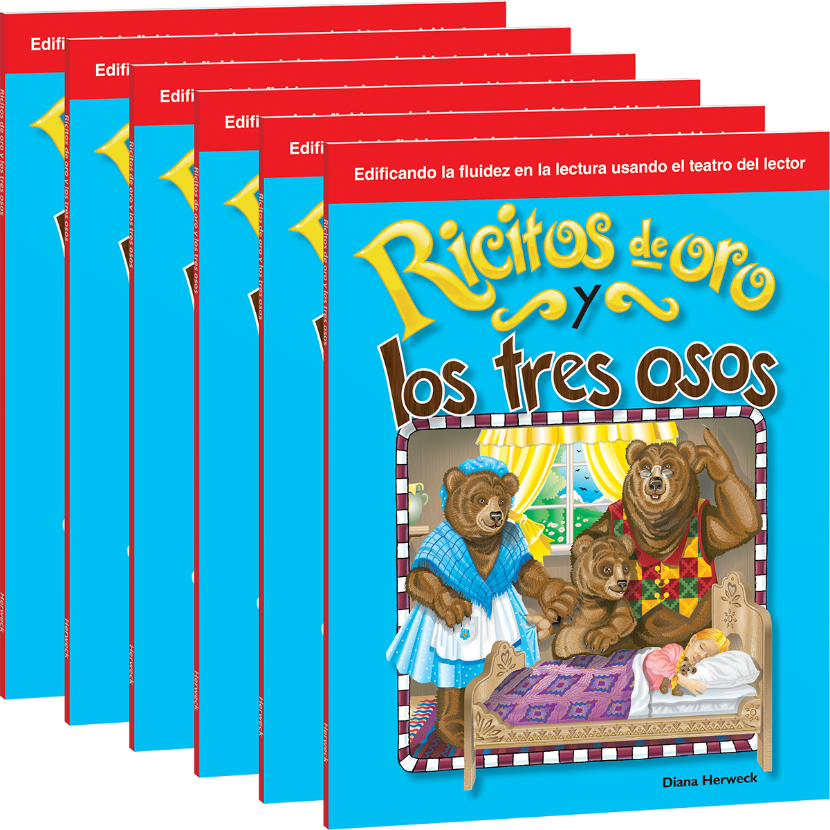 RT Folk and Fairy Tales: Goldilocks and the Three Bears Spanish 6-Pack with  Audio