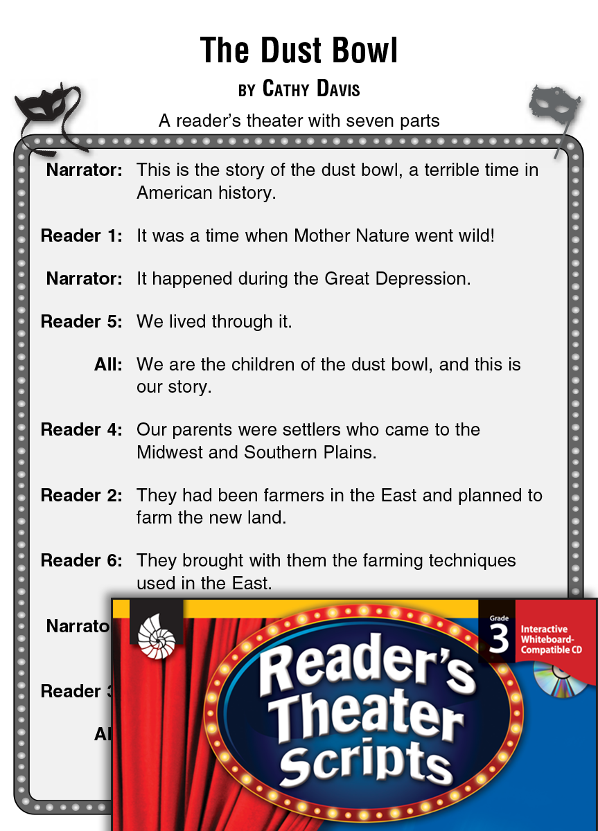 The Dust Bowl Readers Theater Script and Lesson – Dust Bowl Worksheet