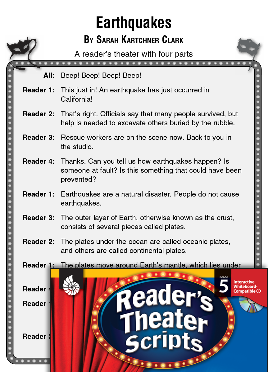Earthquakes: Reader's Theater Script and Lesson