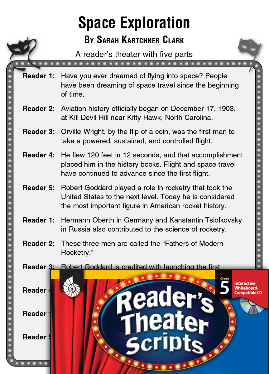 Space Exploration: Reader's Theater Script and Lesson