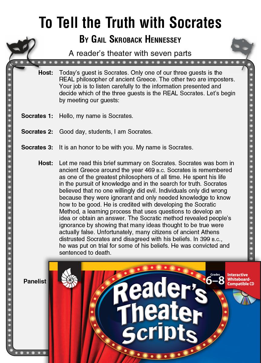 socrates  reader u0026 39 s theater script and lesson