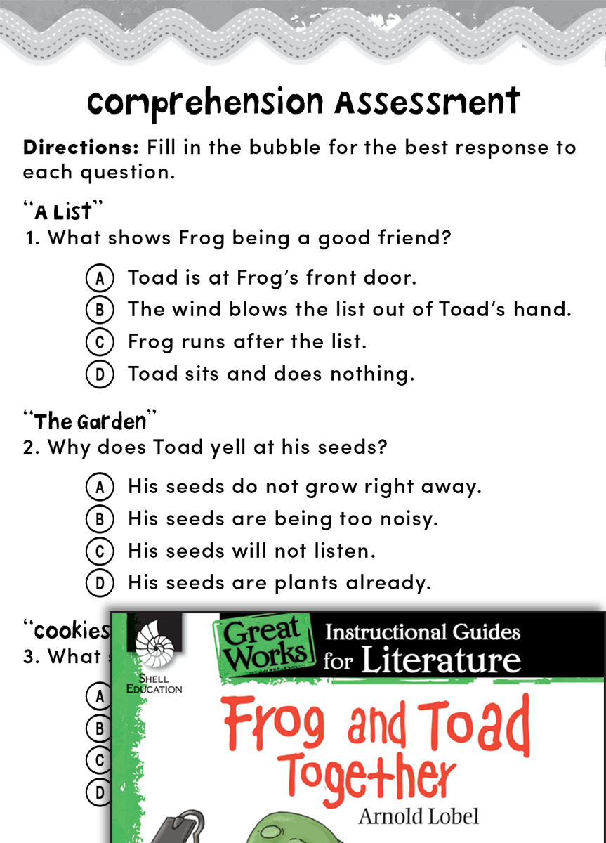 Worksheets Frog And Toad Worksheets frog and toad together comprehension assessment teachers classroom resources