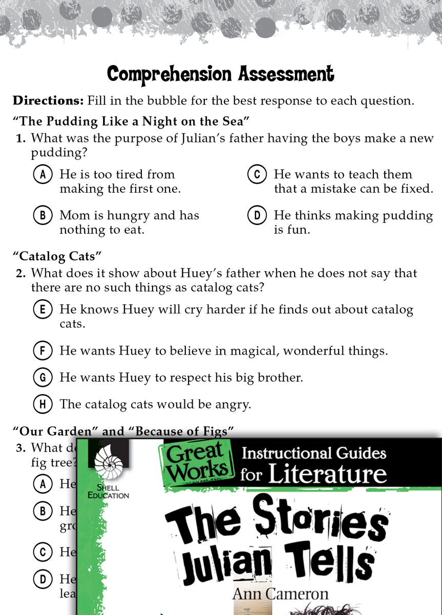 The Stories Julian Tells Comprehension Assessment – The Stories Julian Tells Worksheets