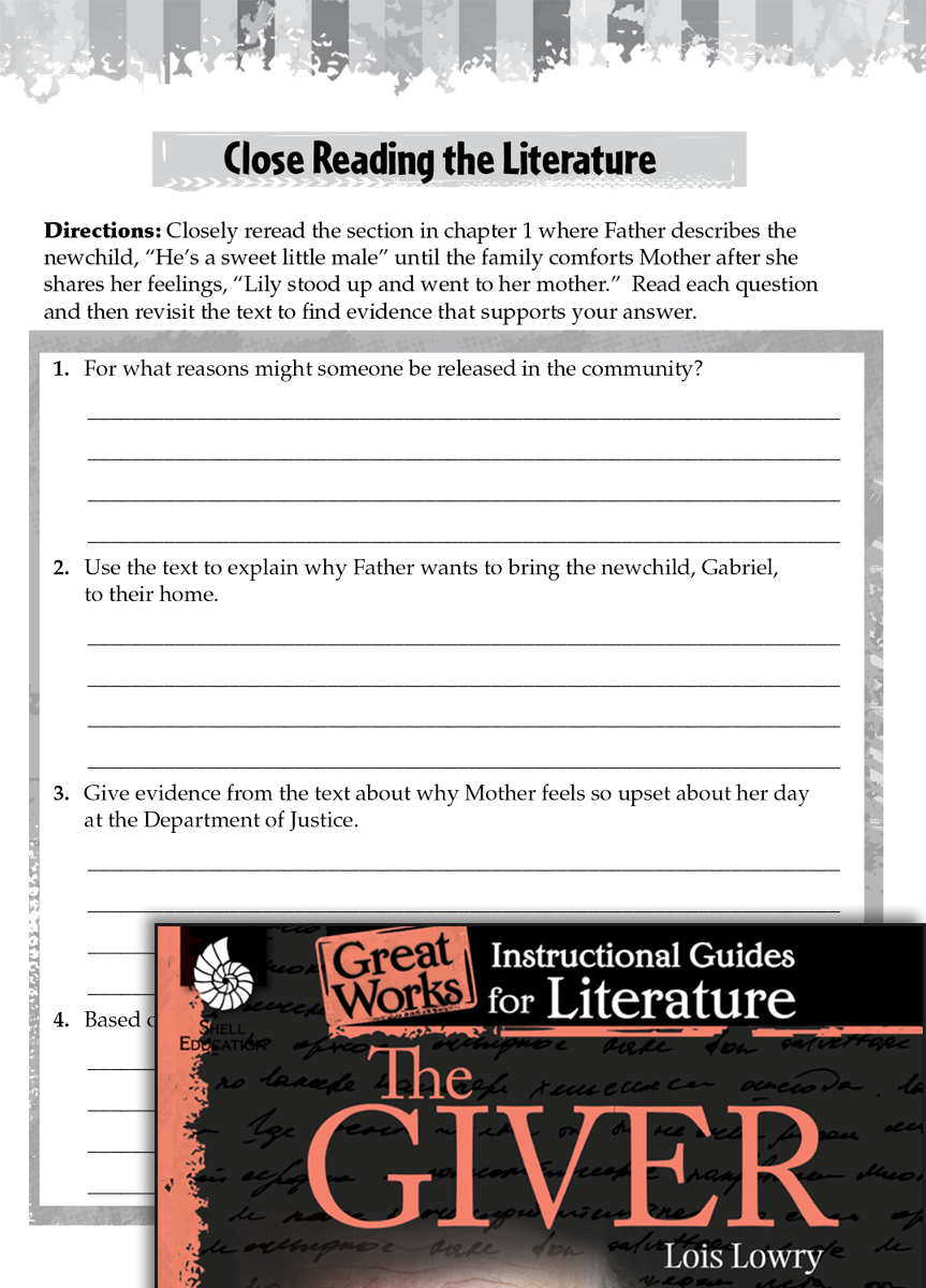 The Giver Close Reading and Text-Dependent Questions | Teachers - Classroom  Resources