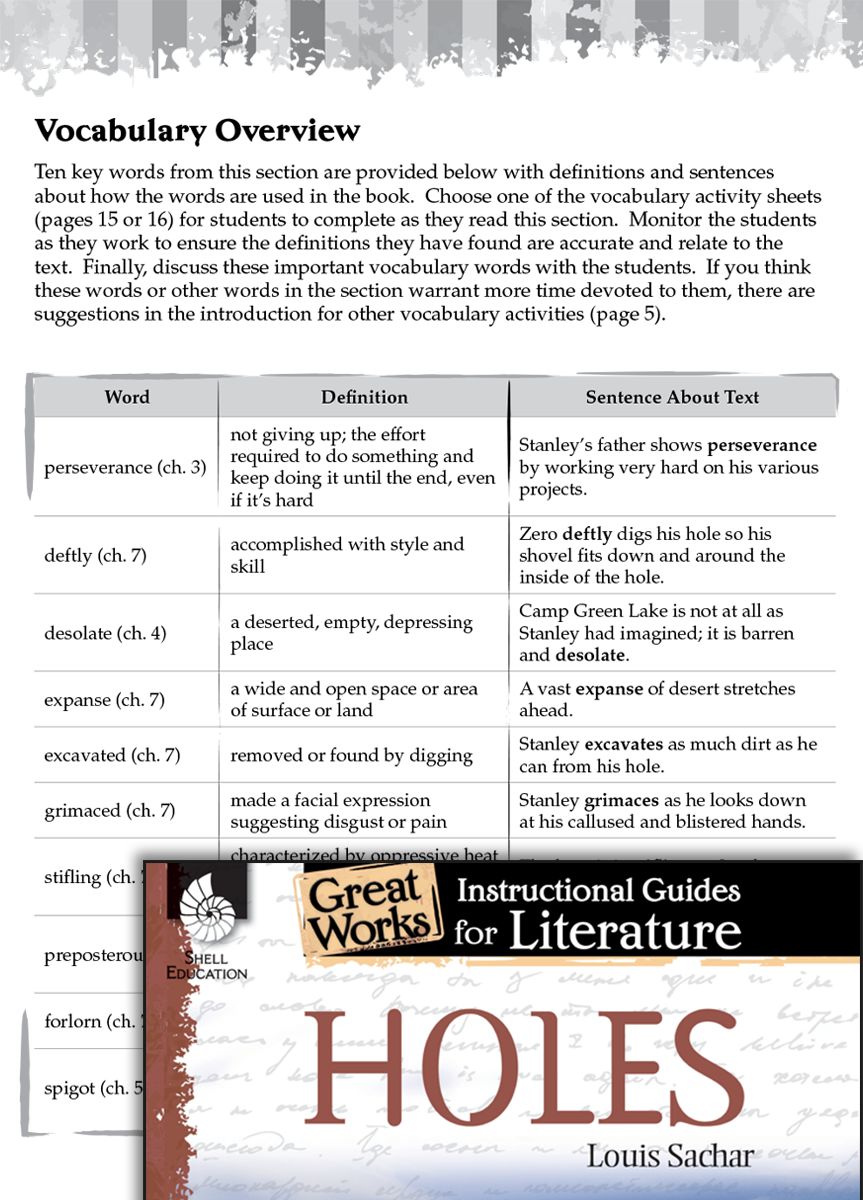 Holes (by Louis Sachar)- Study Activity Guide