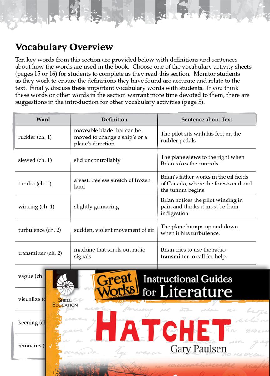 Hatchet Vocabulary Activities Teachers Classroom Resources