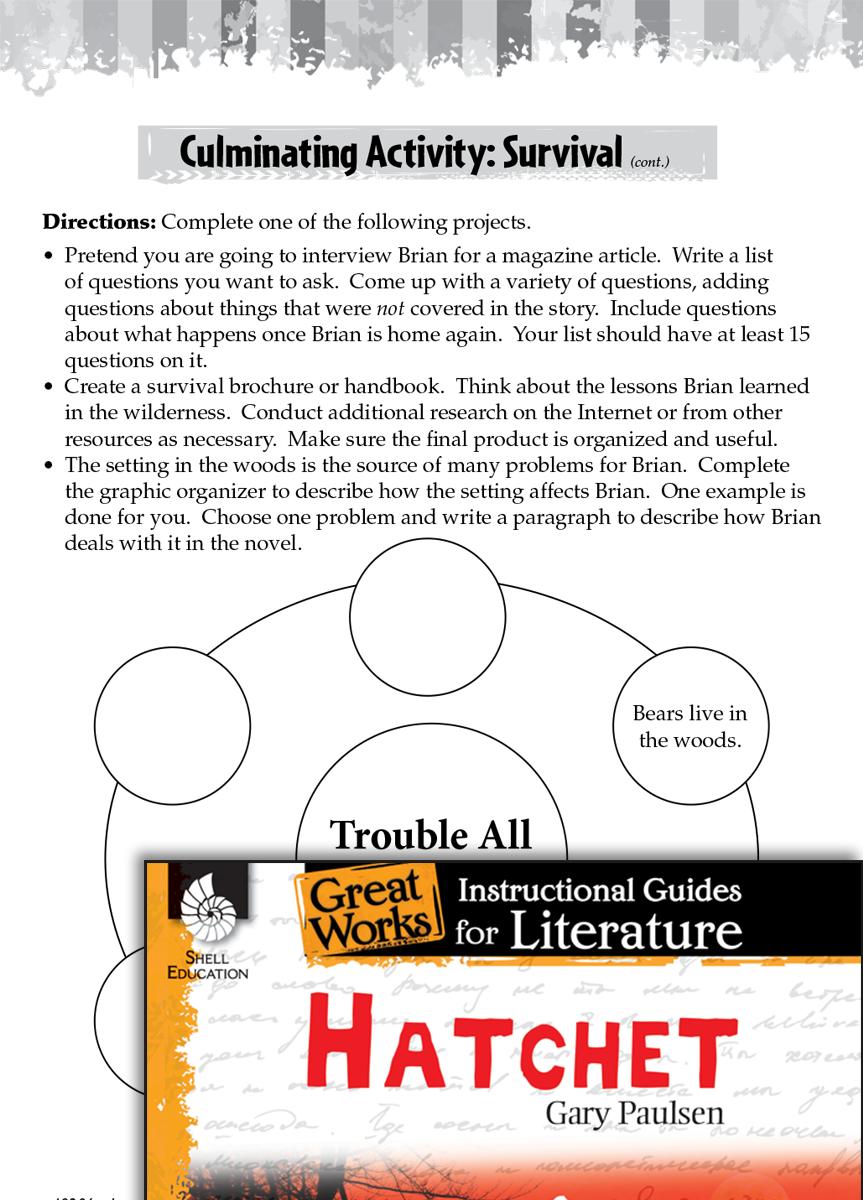 worksheet Hatchet Worksheets hatchet post reading activities teachers classroom resources