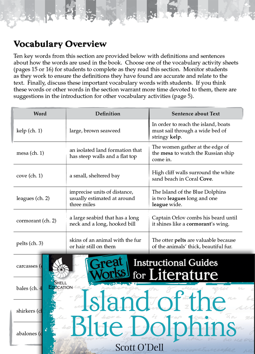 Island Of The Blue Dolphins Vocabulary Activities