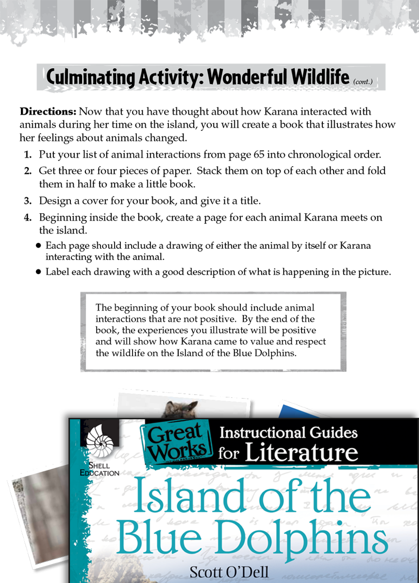 Island Of The Blue Dolphins Post Reading Activities