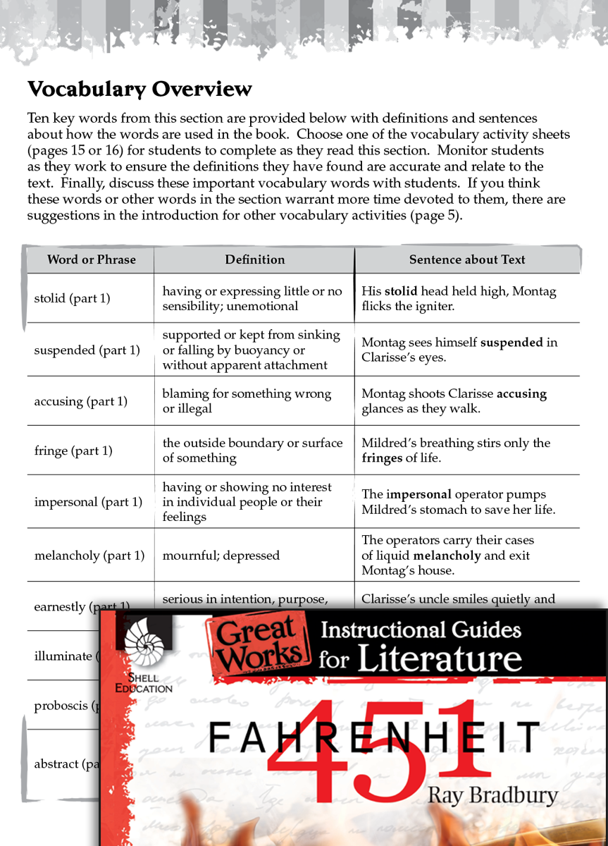 Fahrenheit 451 Vocabulary Activities Teachers