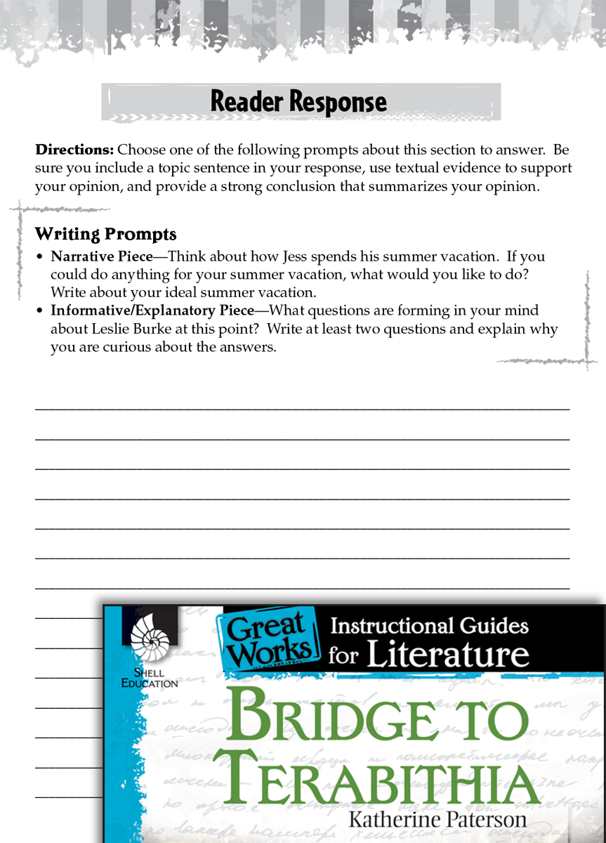 "bridge to terabithia book report worksheets After the film activities in the following links, you will find an extract of the real text of chapter four in the book "" bridge to terabithia."