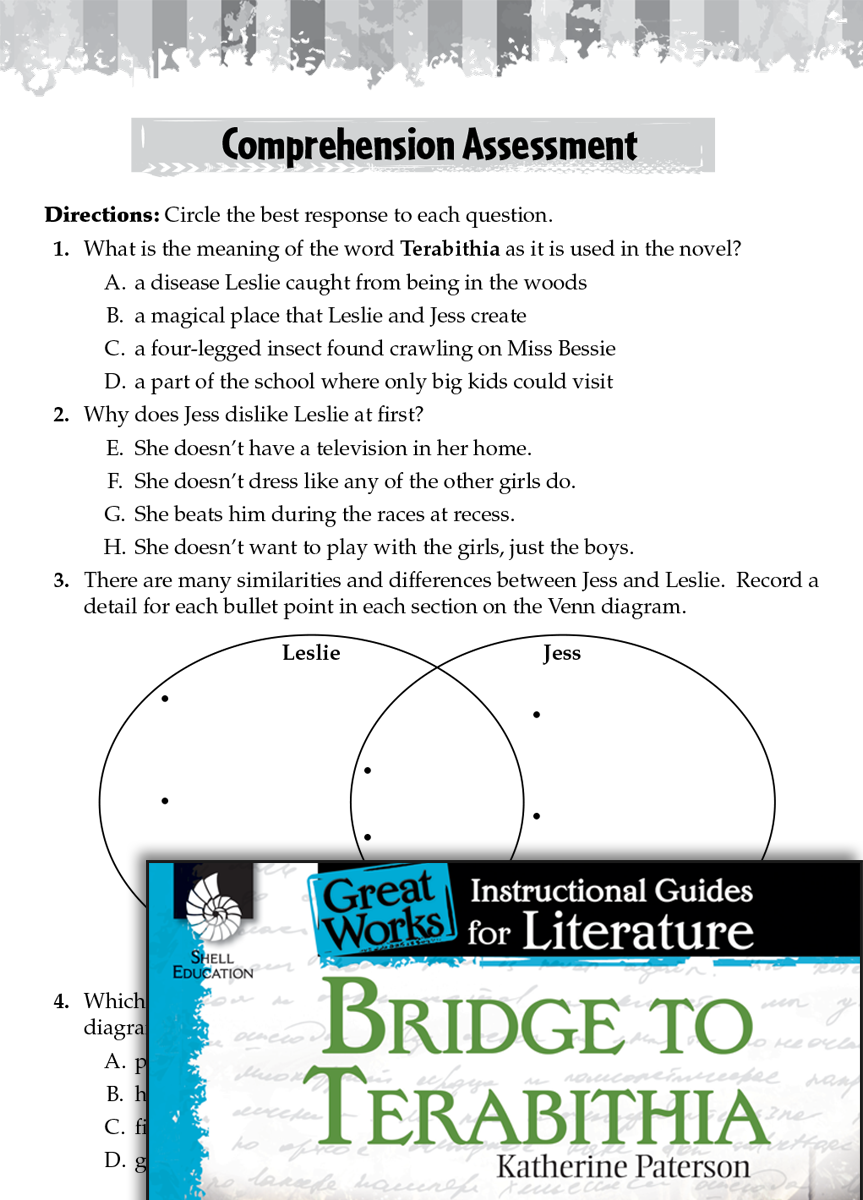 bridge to terabithia comprehension assessment