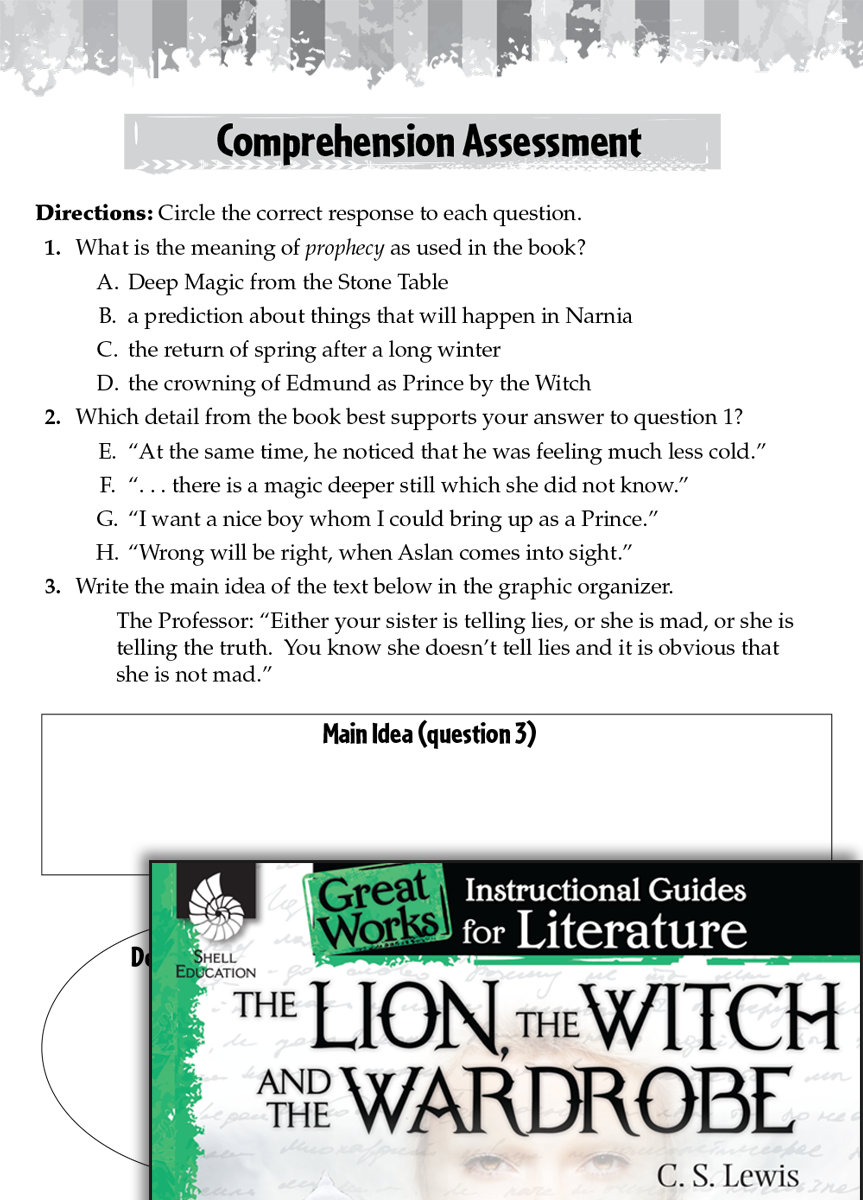 The Lion the Witch and the Wardrobe Comprehension Assessment – The Lion the Witch and the Wardrobe Worksheets