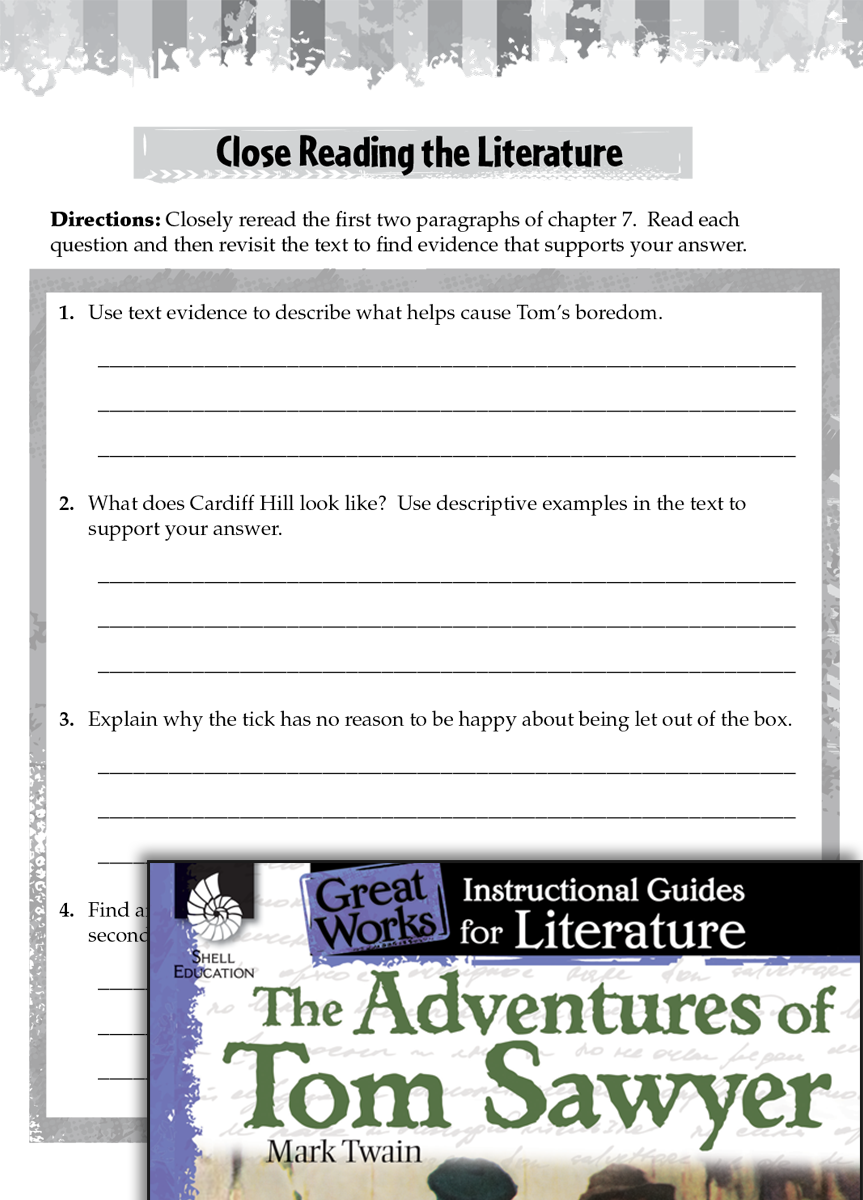The Adventures Of Tom Sawyer Close Reading And Text
