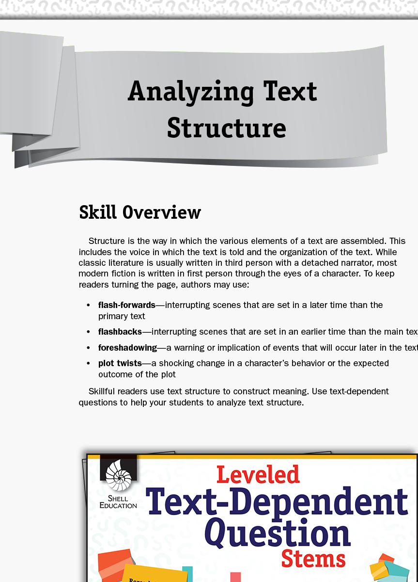 Leveled Text-Dependent Question Stems: Analyzing Text ...