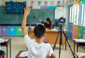Child in COVID-19 classroom