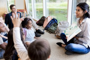 Teach reading to a small group of young students