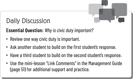 iCivics Readers Daily Discussion