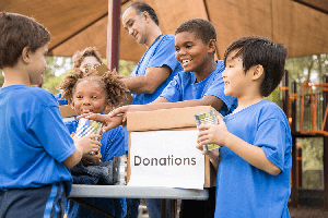 Elementary kids collection donations