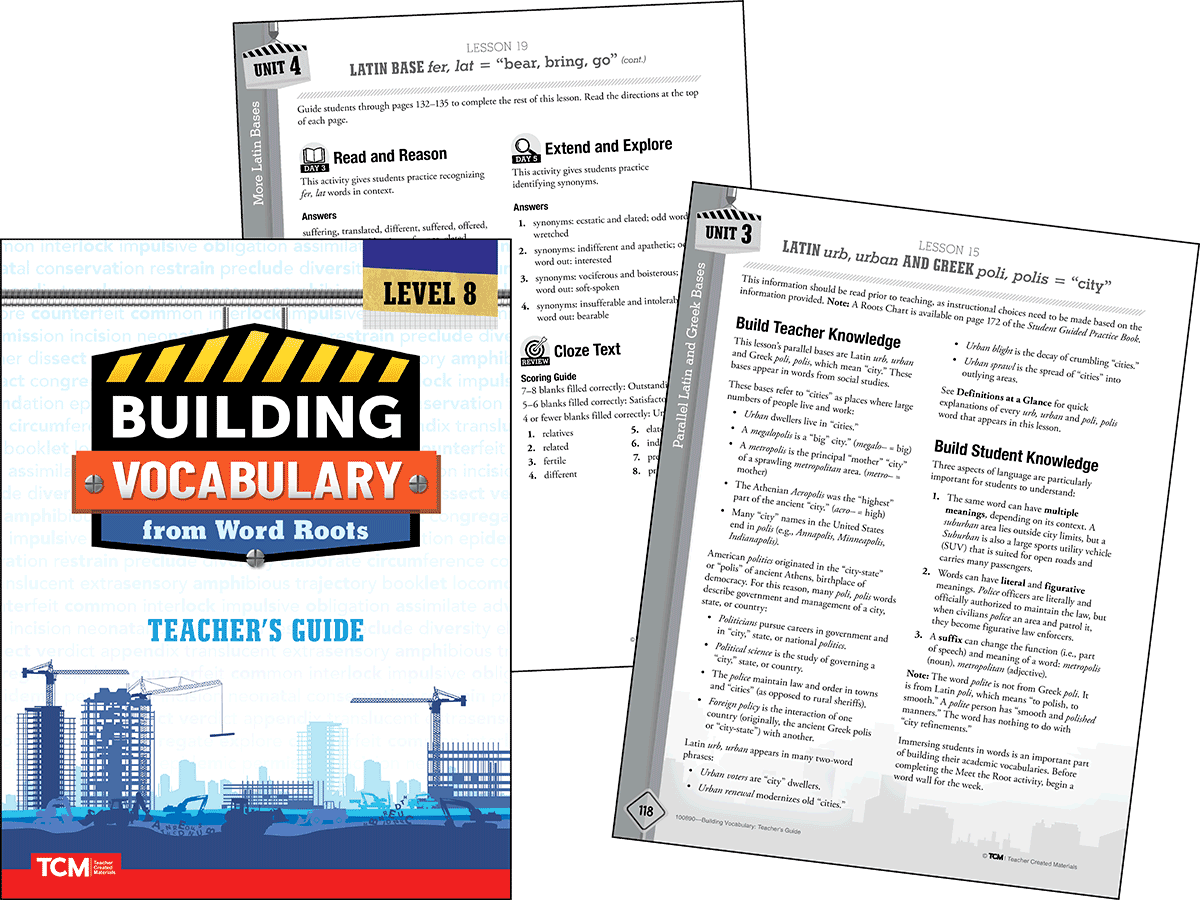 Building Vocabulary 2nd Edition: Level 8 Kit