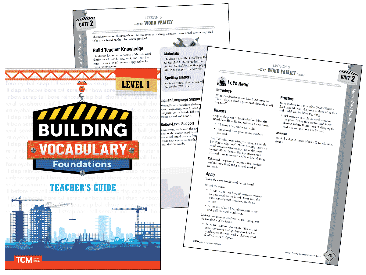 Building Vocabulary 2nd Edition: Level 1 Kit