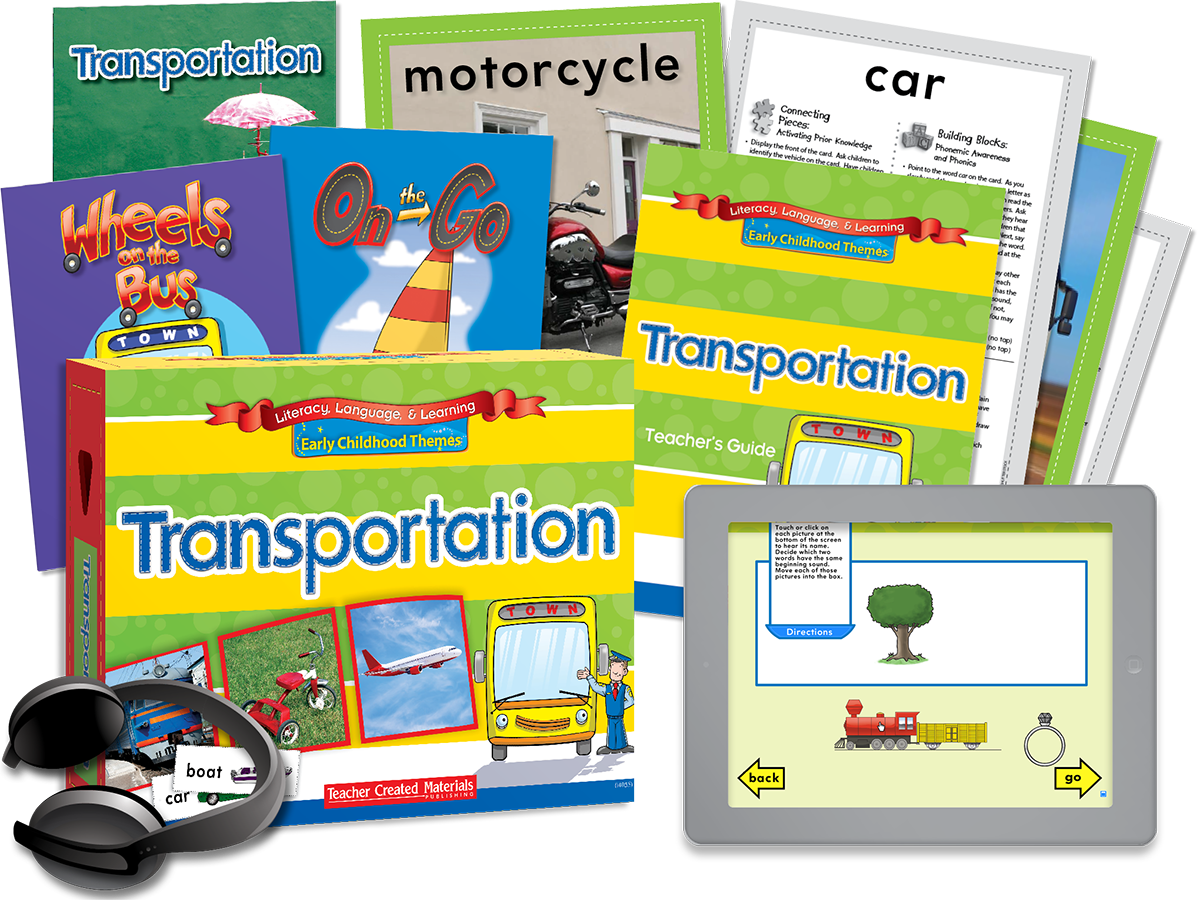 Early Childhood Themes: Transportation Kit