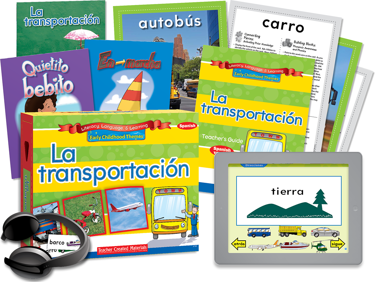 Early Childhood Themes: La transportación (Transportation) Kit (Spanish Version)