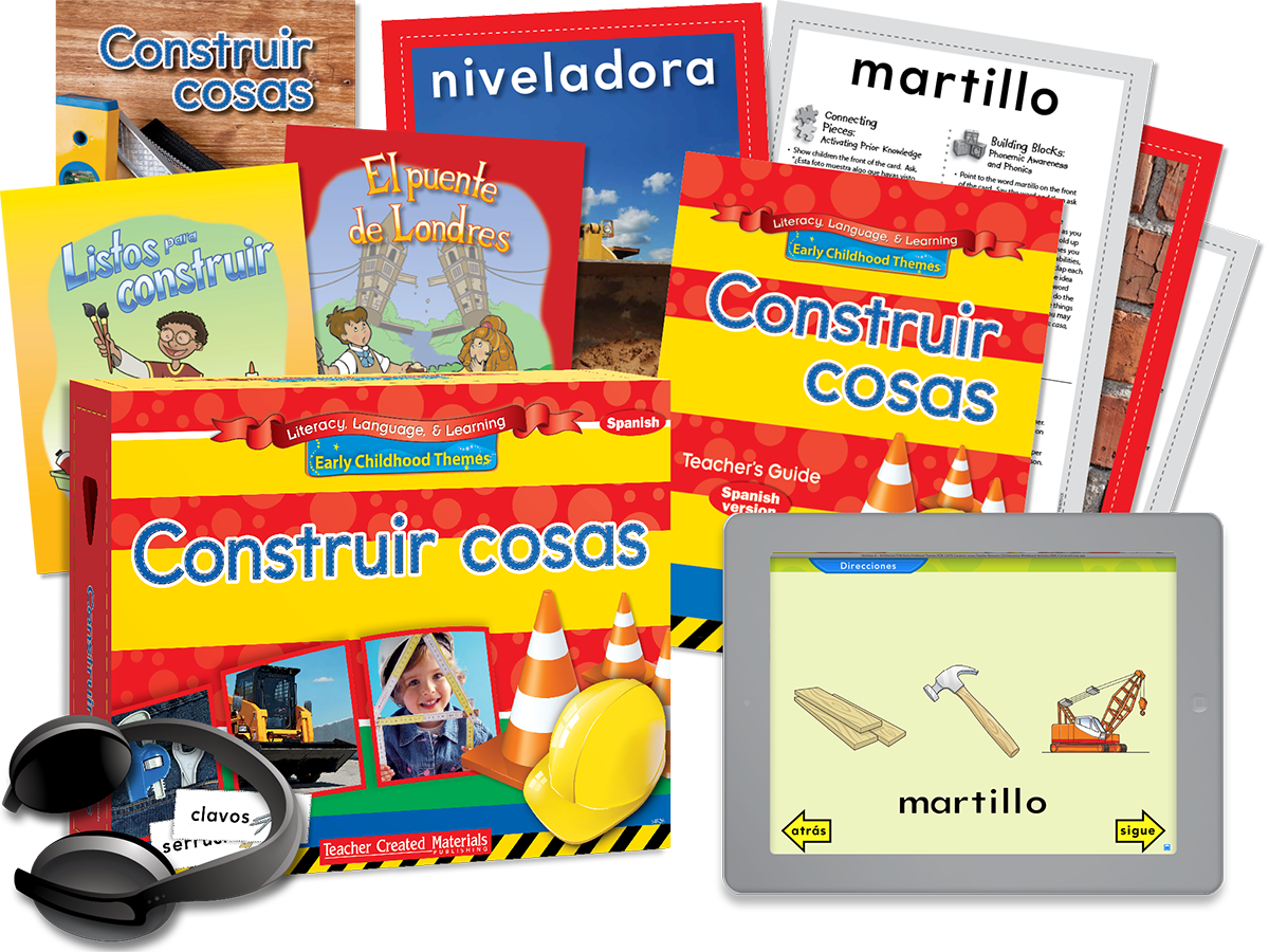 Early Childhood Themes: Construir cosas (Building Things) Kit (Spanish Version)