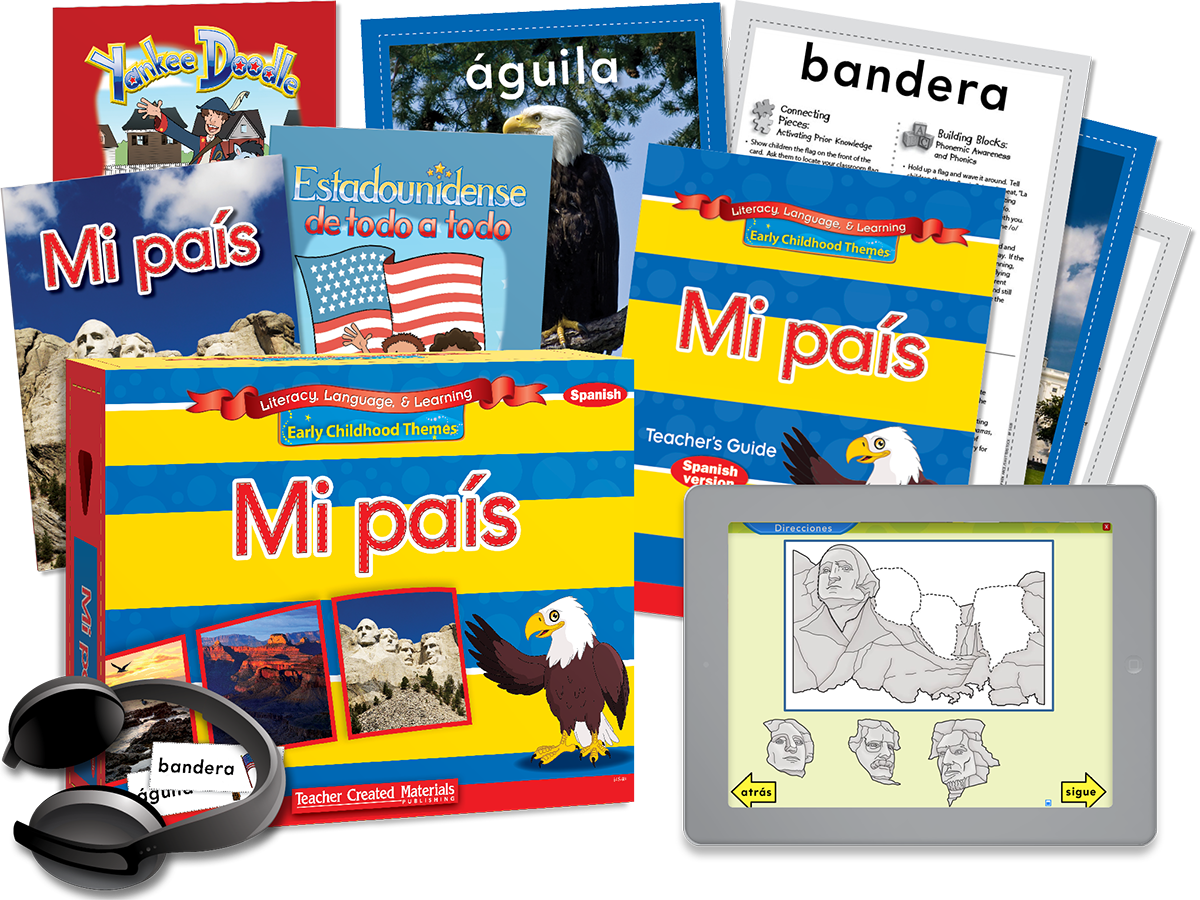 Early Childhood Themes: Mi país (My Country) Kit (Spanish Version)