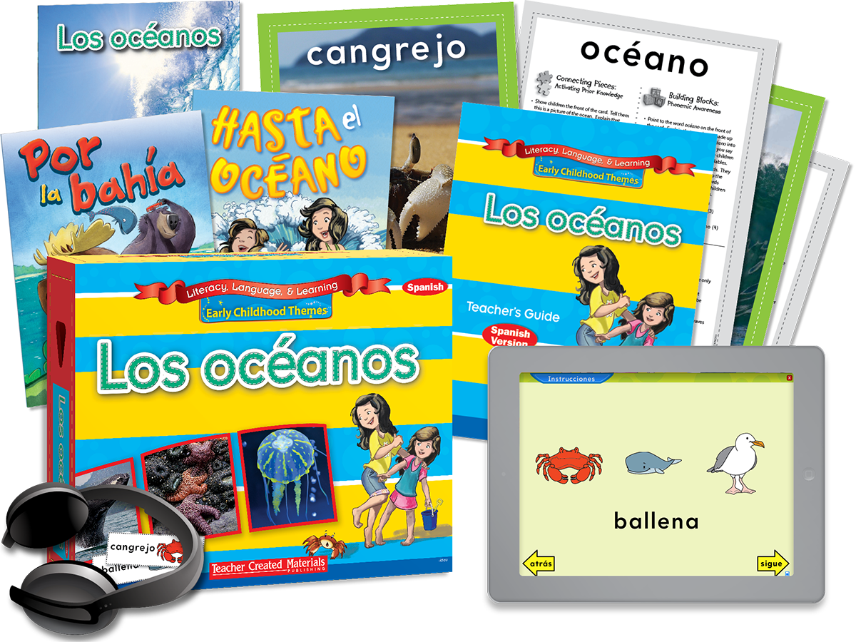 Early Childhood Themes: Los océanos (Oceans) Kit (Spanish Version)