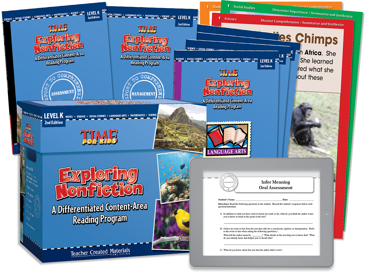 Exploring Nonfiction: A Differentiated Content-Area  Reading Program: Level K Kit