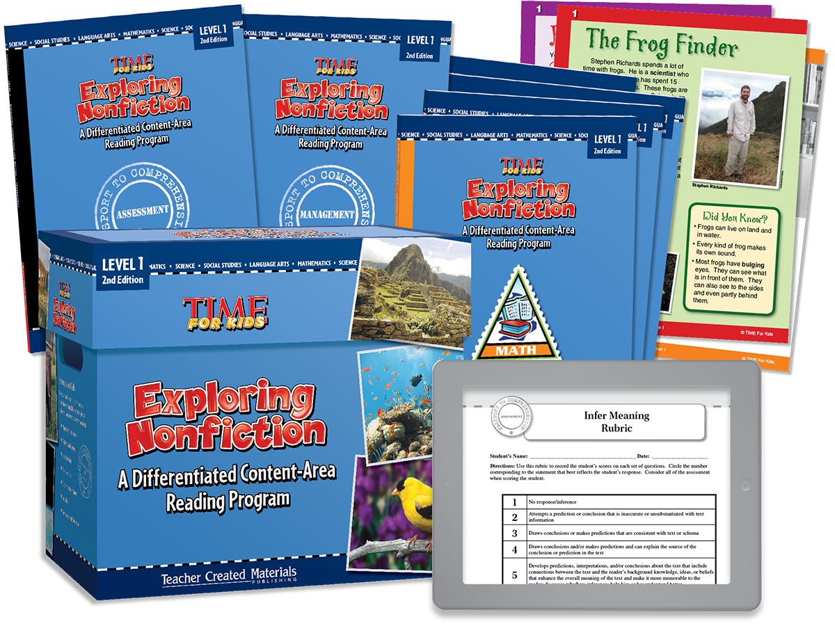 Exploring Nonfiction: A Differentiated Content-Area  Reading Program: Level 1 Kit