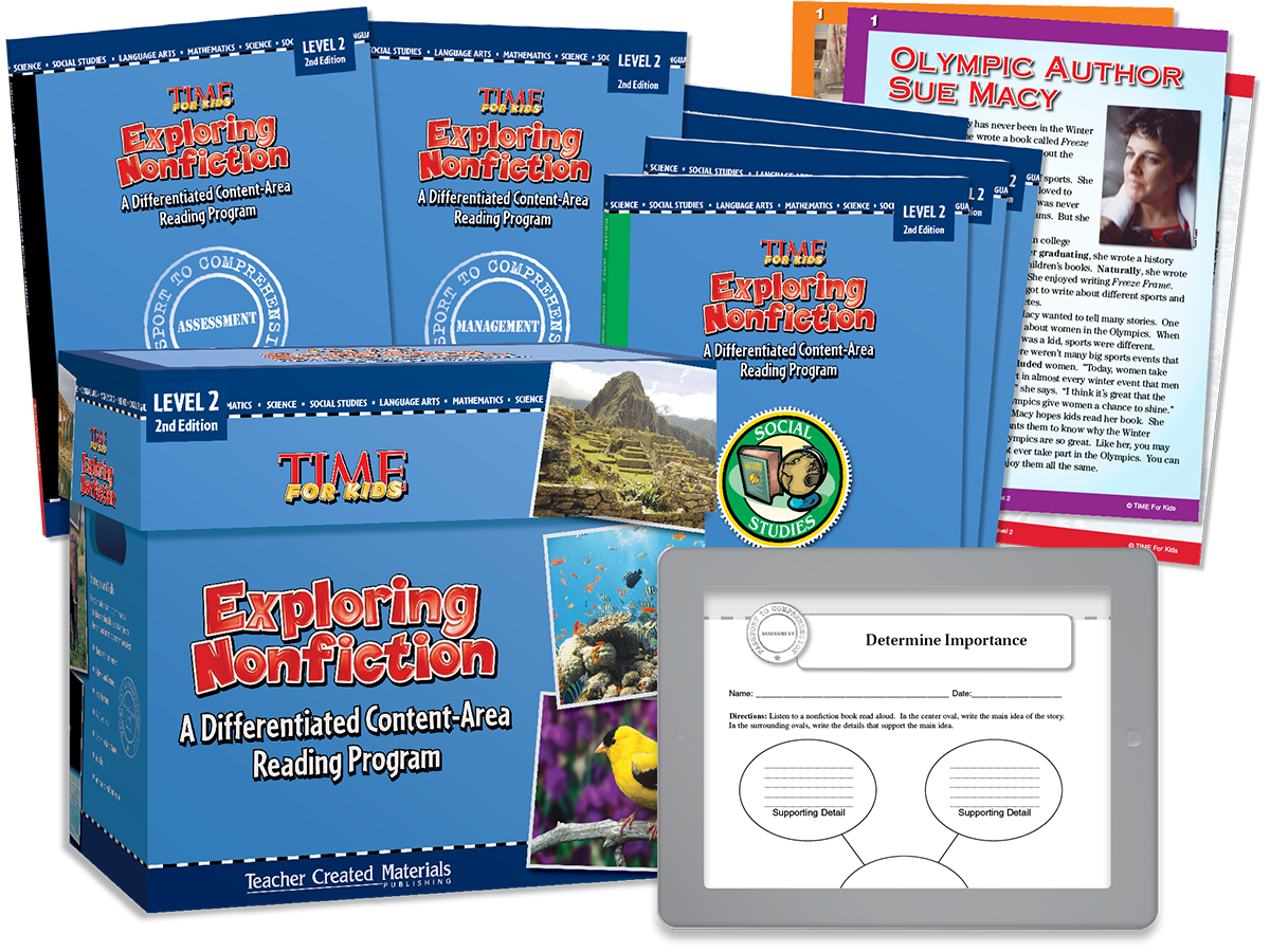 Exploring Nonfiction: A Differentiated Content-Area  Reading Program: Level 2 Kit