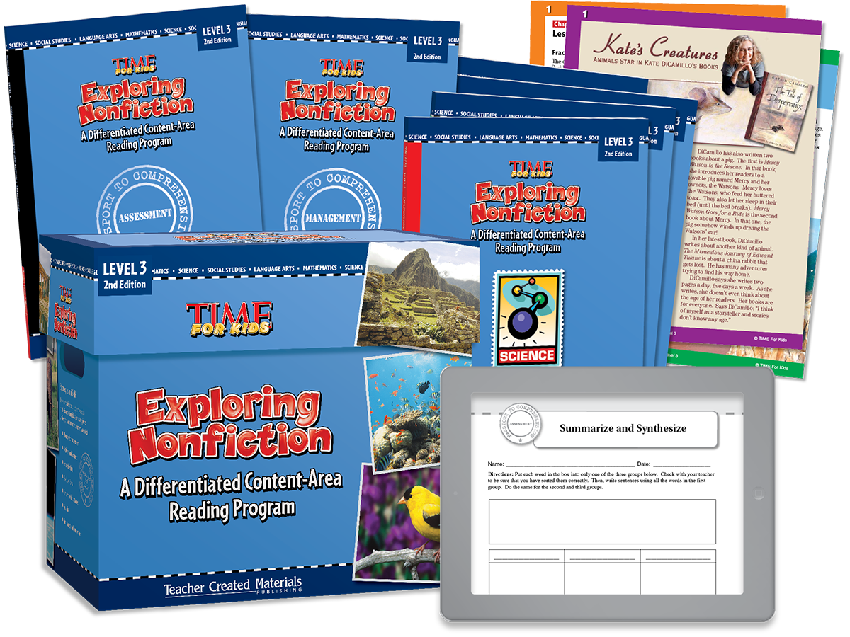 Exploring Nonfiction: A Differentiated Content-Area  Reading Program: Level 3 Kit