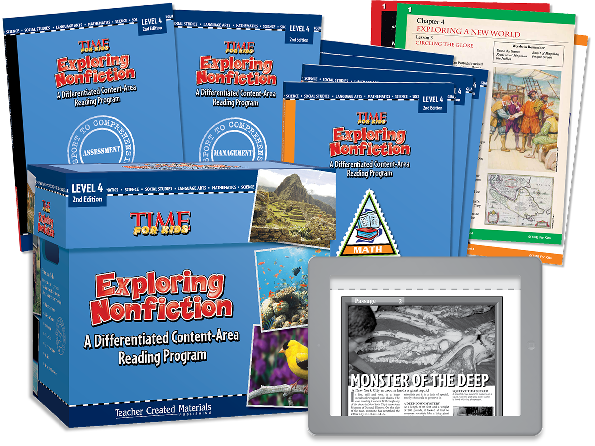 Exploring Nonfiction: A Differentiated Content-Area  Reading Program: Level 4 Kit