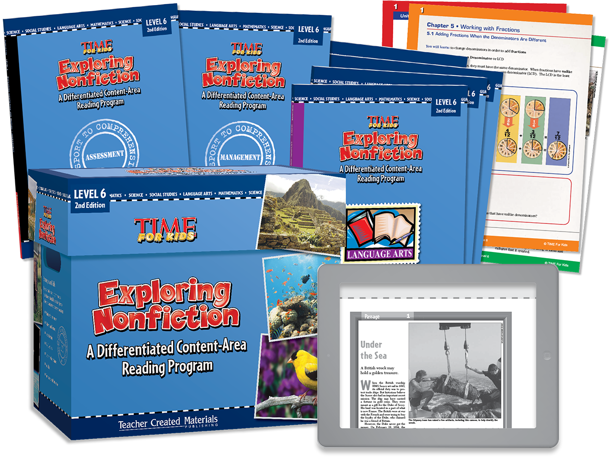 Exploring Nonfiction: A Differentiated Content-Area  Reading Program: Level 6 Kit