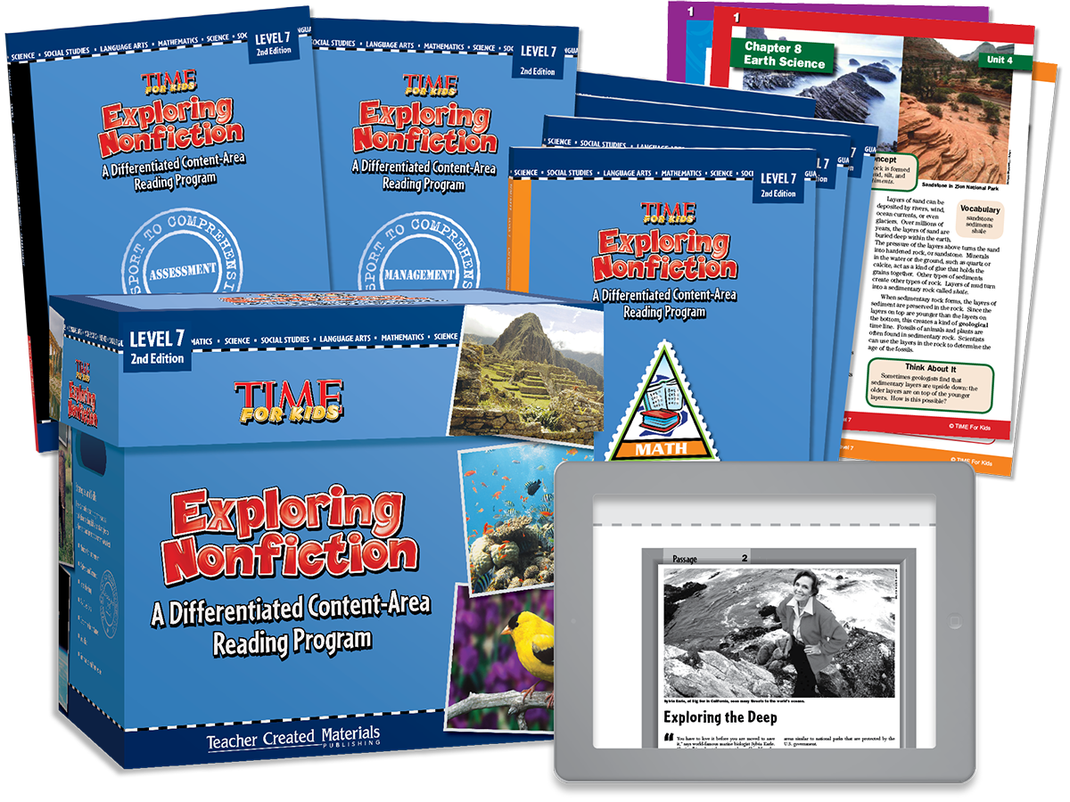 Exploring Nonfiction: A Differentiated Content-Area  Reading Program: Level 7 Kit