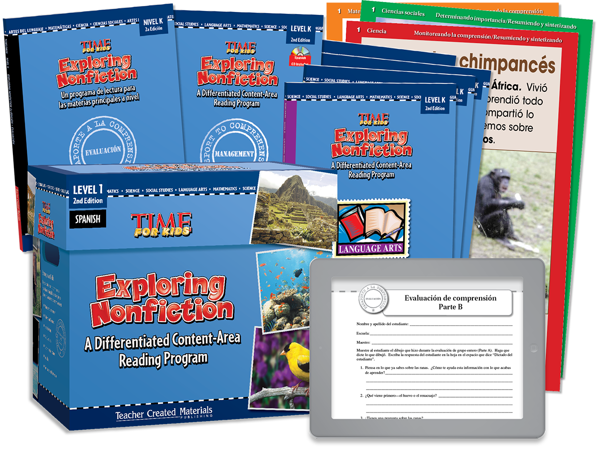 Exploring Nonfiction: A Differentiated Content-Area  Reading Program: Level K Kit (Spanish Version)