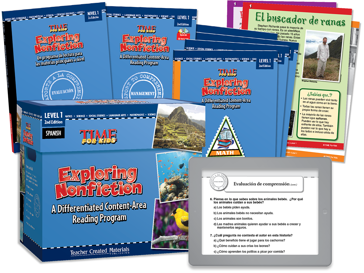 Exploring Nonfiction: A Differentiated Content-Area  Reading Program: Level 1 Kit (Spanish Version)