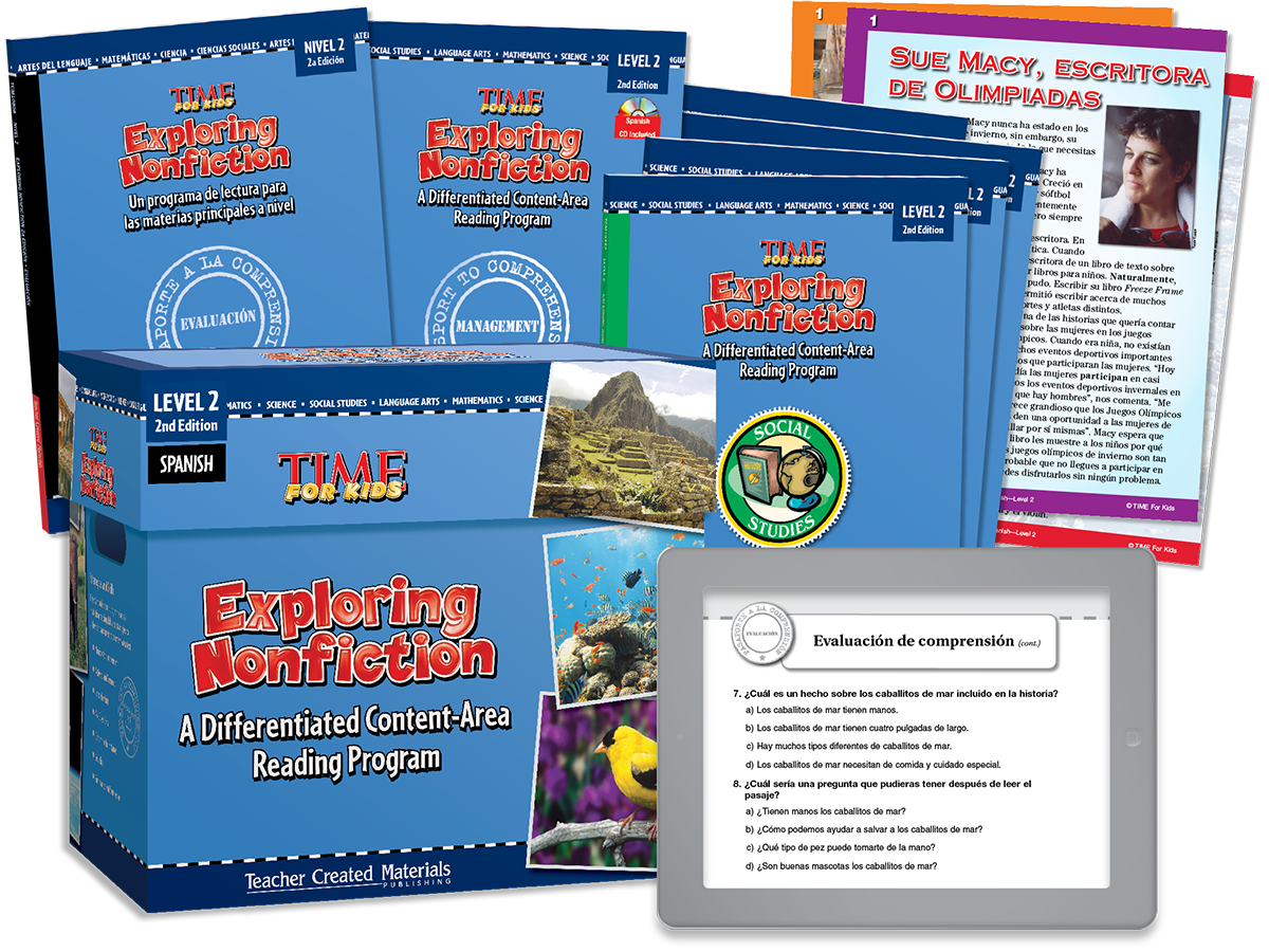 Exploring Nonfiction: A Differentiated Content-Area  Reading Program: Level 2 Kit (Spanish Version)