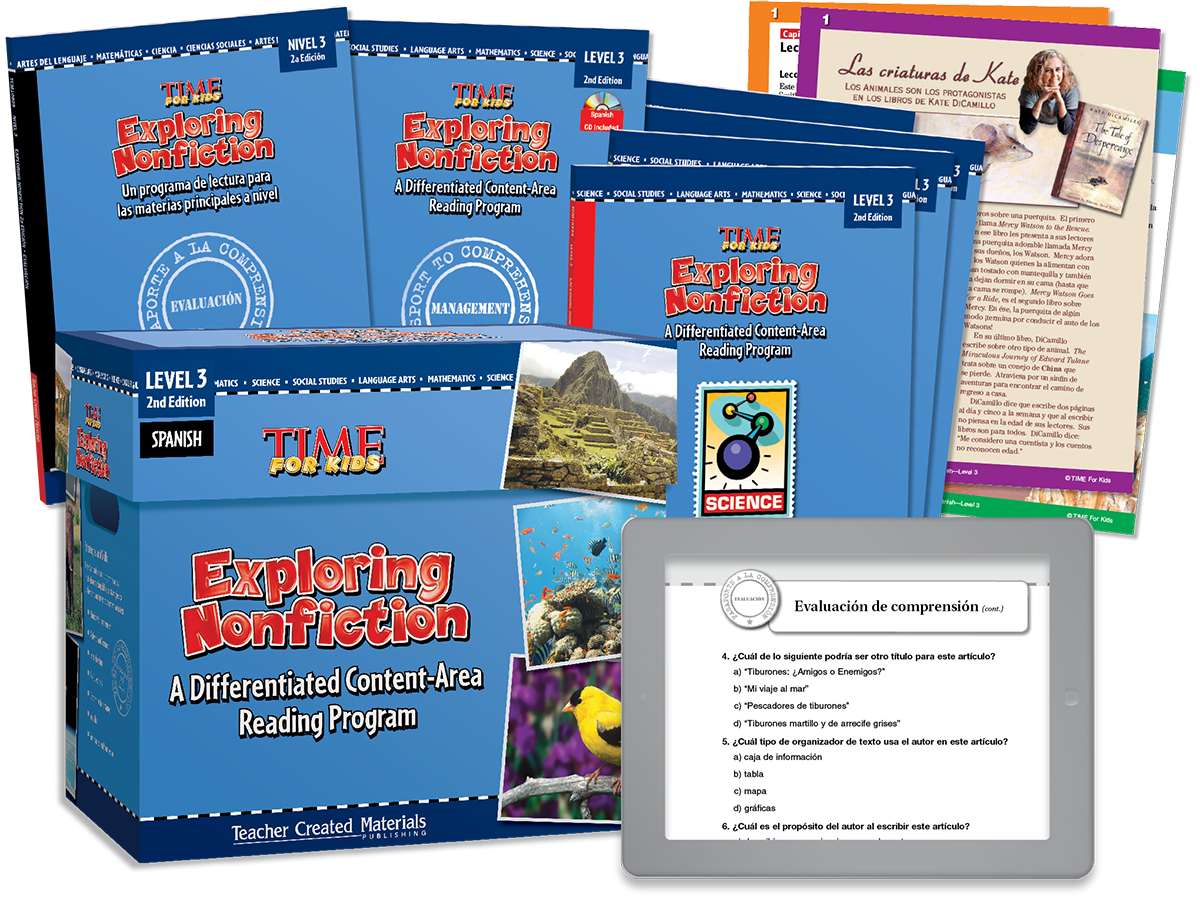Exploring Nonfiction: A Differentiated Content-Area  Reading Program: Level 3 Kit (Spanish Version)