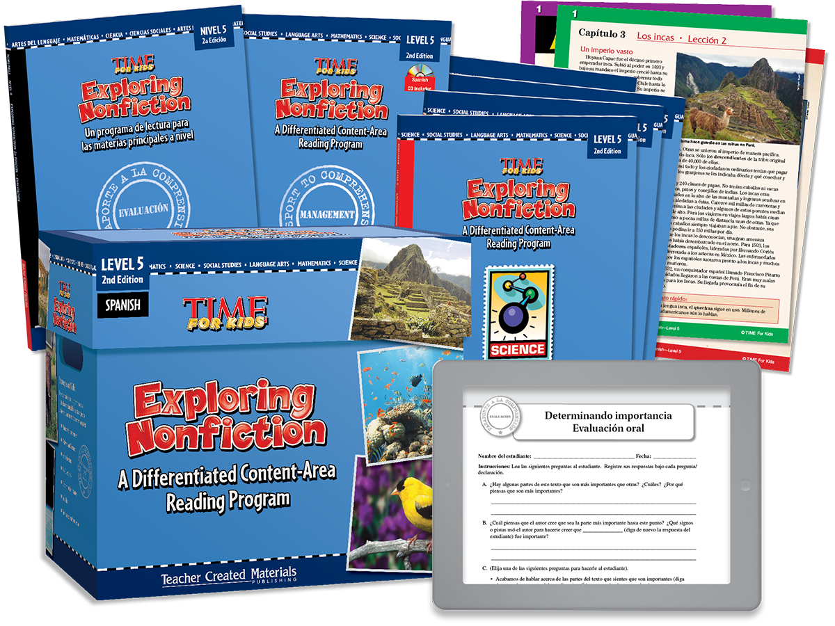Exploring Nonfiction: A Differentiated Content-Area  Reading Program: Level 5 Kit (Spanish Version)