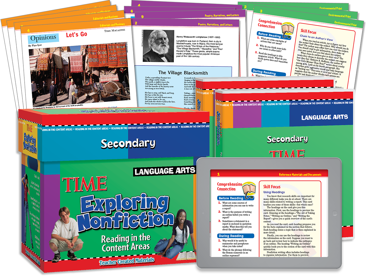 Exploring Nonfiction Secondary: Reading in the Content Areas: Language Arts Kit