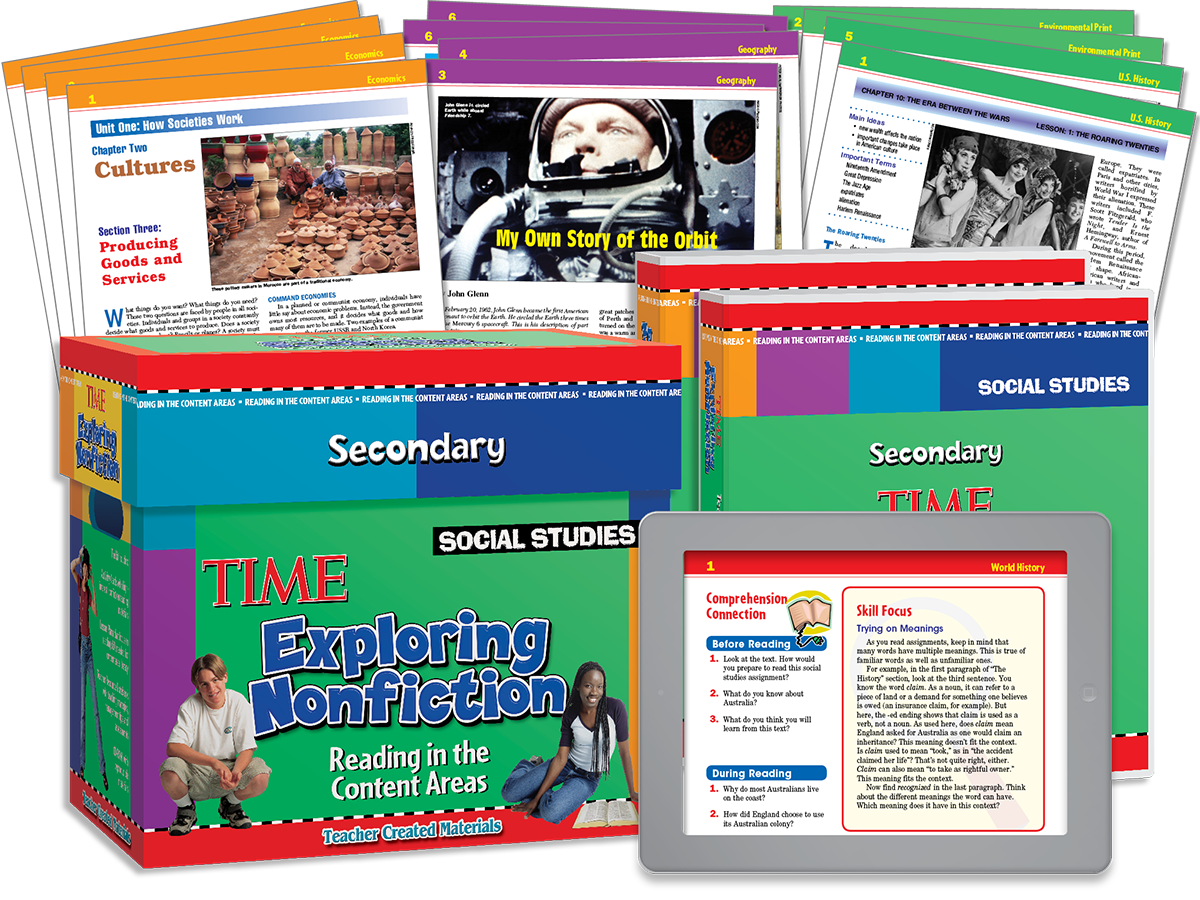 Exploring Nonfiction Secondary: Reading in the Content Areas: Social Studies Kit