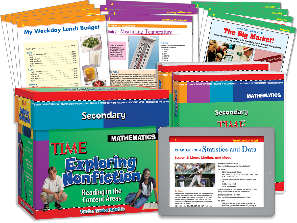 Exploring Nonfiction Secondary: Reading in the Content Areas: Mathematics Kit