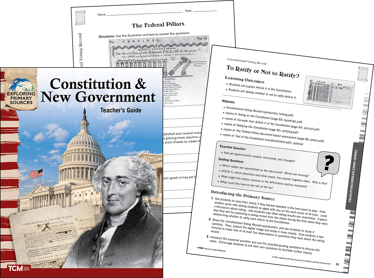 Exploring Primary Sources: Constitution & New Government, 2nd Edition Kit