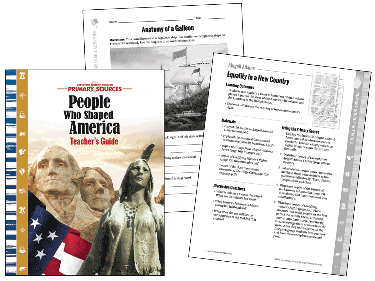 Exploring Primary Sources: People Who Shaped America Kit (Spanish)